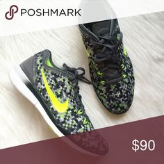 New NIKE FREE 5.0 Black & Neon Running Shoes! Brand new! Unfortunately I have too many pairs and have never worn these! In perfect condition! Any questions, please ask! Size 9 Nike Shoes Athletic Shoes