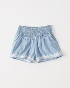 Pull-On Smocked Shorts