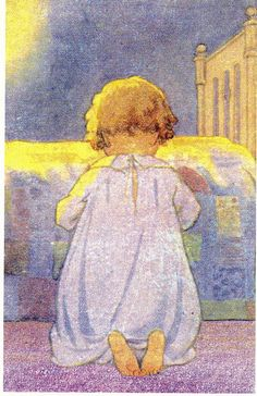 """""""Prayer at bedtime"""", by Jessie Wilcox Smith."""