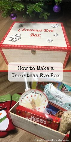 Christmas Eve box filled with children's favorite gifts, is the tradition of every year. Christmas Eve box is usually made of a small box or crate, which is the special expectation of the night before Christmas. When Christmas comes, we must carefull Xmas Crafts, Christmas Projects, Christmas Eve Box Ideas Kids, Xmas Eve Boxes, Christmas Gifts For Babies, Christmas With Baby, Family Christmas Presents, Night Before Christmas Box, Diy Christmas Baskets