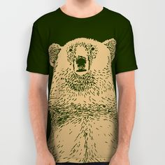 Kodiak Bear All Over Print Shirt by Andrew Henry | Society6