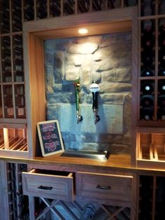 Wine Cellar Special Design Feature - The Beer Taps. The wall across from the wine cellar entryway is where we installed dual beer taps connected to a kegorator and draft beer dispenser located in the garage and they are set into a creative stonework wall feature. Check out this feature here http://www.winecellarsbycoastal.com/custom-wine-cellars-california-aliso-viejo-barnes-oc-project.aspx. Coastal Custom Wine Cellars Paseo Toscana San Juan Capistrano, CA California Office: +1 (949)…