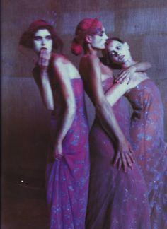 Malgosia Bela, Erin O'Connor and Emily Sandberg shot by Paolo Roversi - Vogue Italia February 1999.