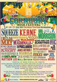 Cornbury Music Festival 5th, 6th, 7th of July 2013 at the Great Tew Estate, Oxfordshire,