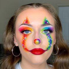 Maquillage Halloween Clown, Crazy Halloween Makeup, Scary Clown Makeup, Halloween Photos, Vintage Halloween, Halloween Costumes, Scary Clowns, Edgy Makeup, Eye Makeup Art