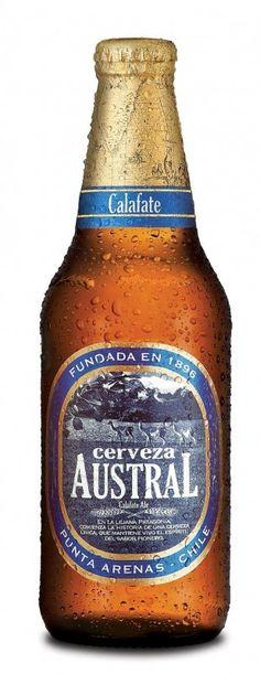 Cerveja Austral Calafate Ale, estilo Fruit Beer, produzida por Cerveceria Austral, Chile. 5% ABV de álcool.