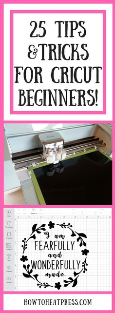 25 Tips and Tricks For Cricut Beginners!