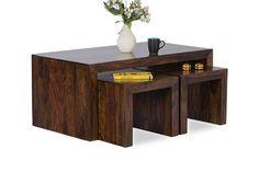 Beautiful Set of Table and Stools. Shesham wood. $350