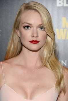 At the premiere of A Most Wanted Man, Lindsay's glossy red pout complemented her porcelain complexion.