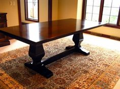 Gloss finish dining room tables farmhouse style | Decolover.net