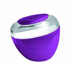 KDG International Omada Movida Salt Shaker, Plum by KD Gifts. $9.20. Dishwasher safe. Material: SAN Acrylic. Designed and Made in Italy. Combines beautiful color and design with excellent Italian quality and durability. Length 2.3-Inch Width 2.3-Inch Height 2.3-Inch. Salt shaker with original porthole form and inclined cut that enhance the aesthetics and the ease of use.