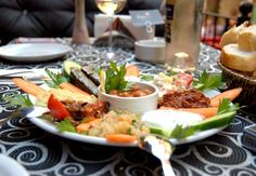 Meze plate served at French Street in Istanbul #food