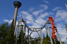 Tornado at Särkänniemi, Tampere, Finland is a rare Intamin inverted coaster - Photo by Jake Garbelotti, Theme Park Review
