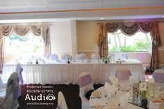 The wedding party's head table at Riverview Banquets. http://www.discjockey.org