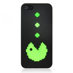 Black Pac-Man Pixel Case for iPhone 5