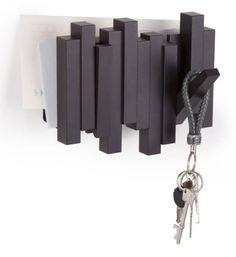 Garderoben - Gaderobe/Briefhalter klein- Black - ein Designerstück von ZimmerNo13 bei DaWanda