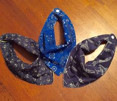 Bandana Bibs by JADWoobies on Etsy