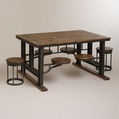 Galvin Industrial Stool (and Table)  I want this for my Steampunk/Craftsman dining room!