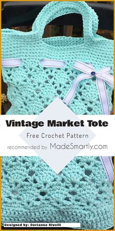 Vintage Market Tote - Free Crochet Pattern