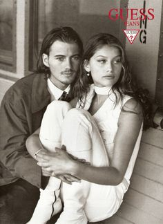"a-state-of-bliss: ""Guess Jeans 1996 - Alex Lundqvist & Laetitia Casta by Dewey Nicks """