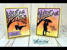 Silhouette Scenes video with my easy sponged background technique Daffodil Flower, Cactus Flower, Serene Silhouettes, Hybrid Tea Roses, Stampin Up Catalog, Ink Stamps, Stamping Up Cards, Pretty Cards, Flower Cards