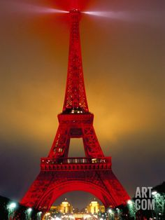 Eiffel Tower Decorated for Chinese New Year, Paris, France Photographic Print by Bruno Morandi at Art.com