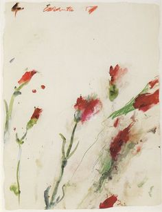 Cy Twombly, untitled, no.4 of series Carnations, 1989.