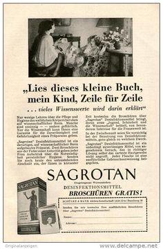 Original-Werbung/ Anzeige 1928 -  SAGROTAN - ca. 140 x  220 mm