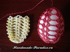 Crochet for Easter: nice and easy free pattern Crochet Christmas Ornaments, Holiday Crochet, Crochet Diagram, Filet Crochet, Easter Crochet Patterns, Thread Crochet, Yarn Crafts, Easter Crafts, Crochet Projects