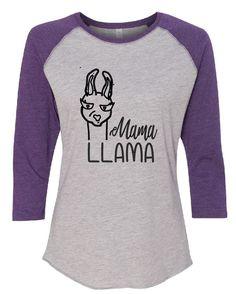 Mama Llama Raglan