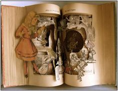 Avidmom's 2014 Journal of Books, Chocolate, Music and Movie Magic! Part III |  Altered Books Sculptures by Susan Hoerth