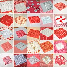 41 fabric manipulation tutorials | Sewn Up by TeresaDownUnder - (2 quilts:  a 9 patch and a 4 patch)