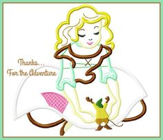 Cinderella and Her Mouse Gus Digital Embroidery Machine Applique Design File 5x7 6x10 by Thanks4TheAdventure on Etsy