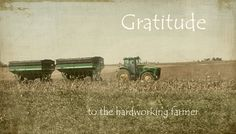 So very grateful for all farmers who are providing me with food to eat everyday.
