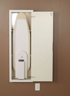 White In-Wall Ironing Board