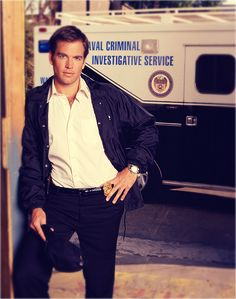Michael Weatherly on NCIS...makes me wanna turn to a life of crime...