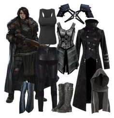 Untitled #492 by ironraven281 on Polyvore featuring polyvore fashion style Hooded Trench TIGHA H&M Retrò clothing