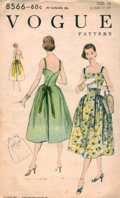 Vintage Vogue Sundress Pattern