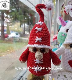 Crochet Hats, Christmas Ornaments, Holiday Decor, Crafts, Amigurumi, Hand Crafts, Knitting Hats, Manualidades, Christmas Jewelry