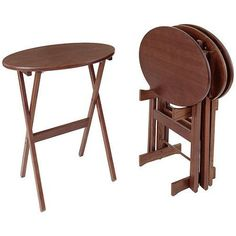 Manchester Wood Oval Tray Table (Set Of 4)Walmart Of All Places
