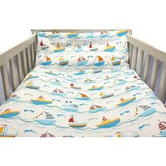 Our sailing themed cotton cot bed duvet cover set is perfect for your little one to get a great night's sleep. Made from cotton with blue, yellow, and red sailing boats set against a white background, this duvet is perfect for a themed bedroom Cot Bed Duvet Cover, Cot Duvet, Duvet Cover Sets, Childrens Duvet Covers, Great Night, Bedroom Themes, Cosy, Boats, Sailing