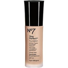 No7 Stay Perfect Foundation Broad Spectrum SPF 15 Cool Vanilla