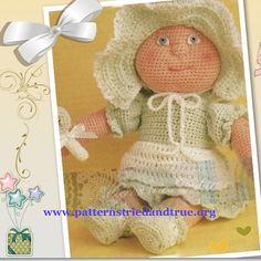 Child Safe Baby Doll Crochet Pattern, Scrapbooked Digital PDF