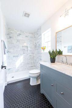 White Bathroom Ideas - Discover the leading finest white bathroom ideas incl. - White Bathroom Ideas – Discover the leading finest white bathroom ideas including unique fauc - White Bathroom, Master Bathroom, Shower Bathroom, Bathroom Vintage, Neutral Bathroom, Simple Bathroom, Diy Shower, Mirror Bathroom, Bathroom Small