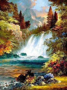 водопад - Схемы вышивки - issa13 - Авторы - Портал «Вышивка крестом»: