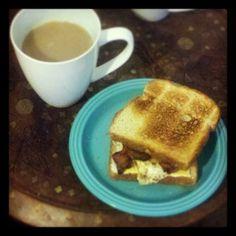 Cholesterol Sandwich #bacon #breakfast