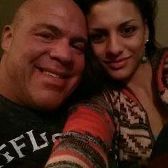 WWE Hall of Fame legend Kurt Angle cuddling with his wife Giovanna Yannotti Angle. Wwe Couples, Kurt Angle, Wwe Tna, Total Divas, Professional Wrestling, Wwe Superstars, Husband Wife, Happily Ever After, Angles