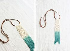 DIY Ombre Dyed Macrame Necklace   The Merrythought
