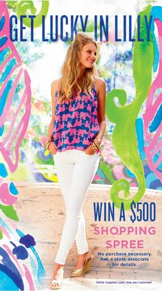 •Get Lucky In Lilly•  Stop in from 11 to 5, September 19, for a chance to win a $500 Shopping Spree!   #PinkDoorMemphis