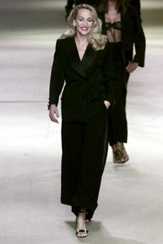 Saint Laurent, Haute Couture Spring 2002 (Yves Saint Laurent's last couture show, with retrospective)  --  Le Smoking